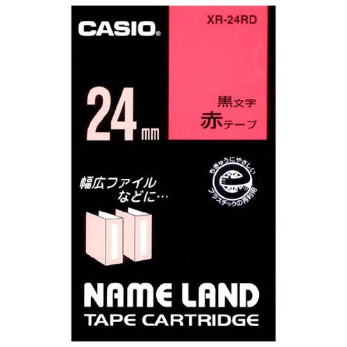 ラベルテープ XR-24RD 赤に黒文字 24mm_画像01